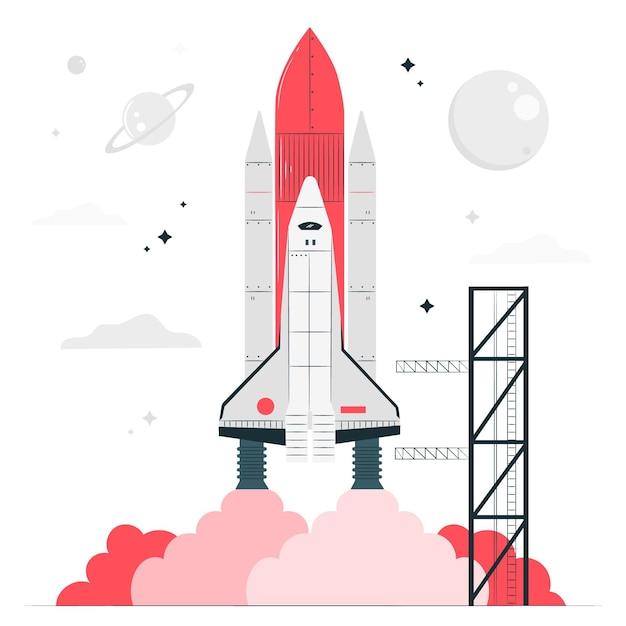 Raket concept illustratie Gratis Vector