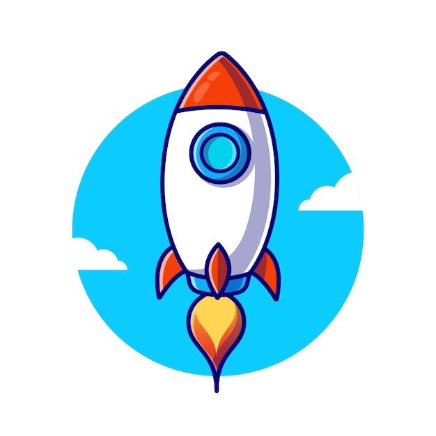 Raketlancering illustratie Premium Vector