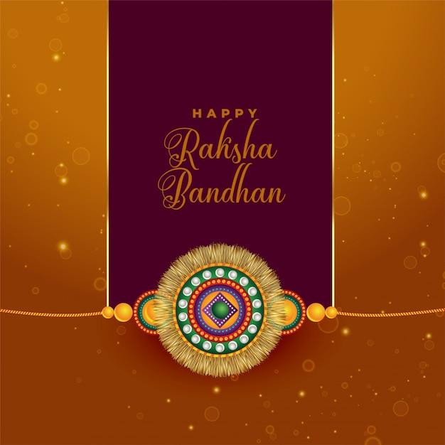 Raksha bandhan groet in indische stijl Gratis Vector