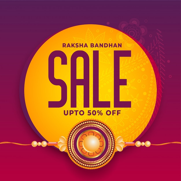 Raksha bandhan. rakhi festival banner ontwerp Gratis Vector