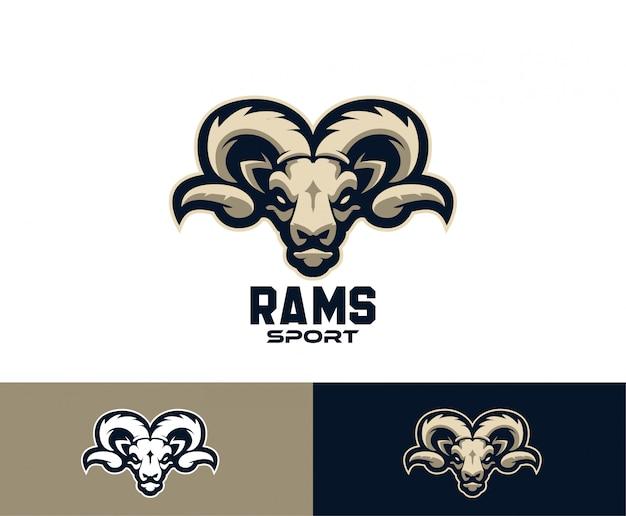 Ram geitenkop sport logo Premium Vector