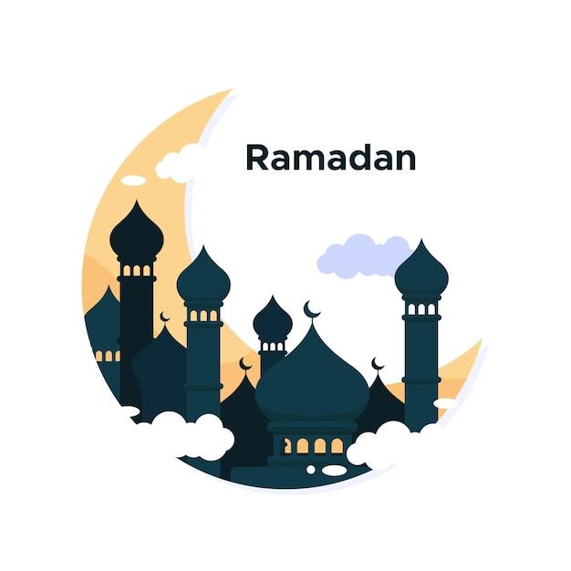 Ramadan achtergrond concept Gratis Vector