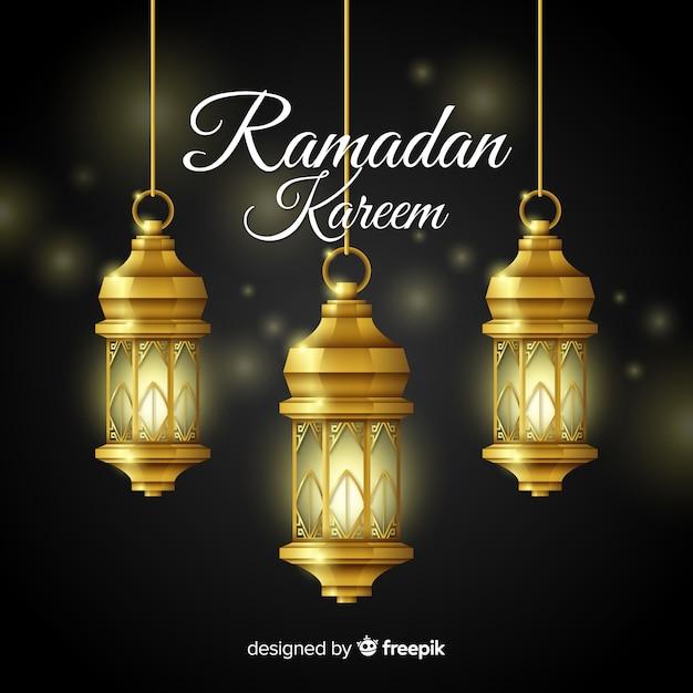Ramadan achtergrond Gratis Vector