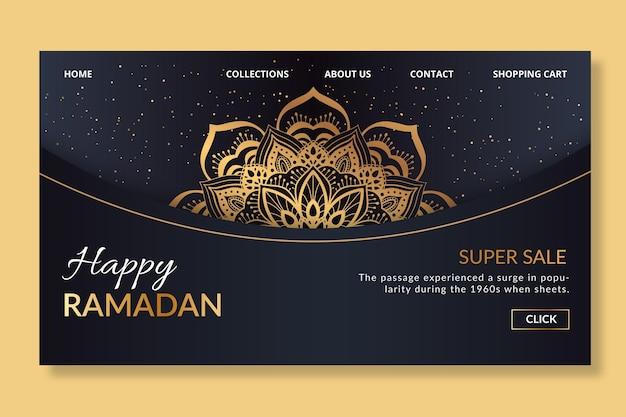 Ramadan-bestemmingspagina-sjabloon Gratis Vector
