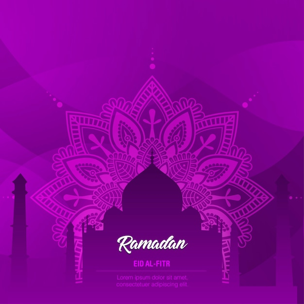 Ramadan eid al-fitr Premium Vector