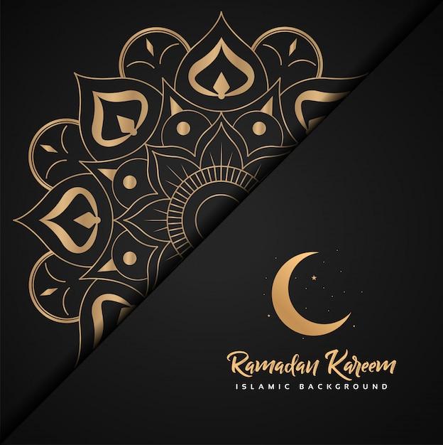 Ramadan kareem islamitisch Premium Vector