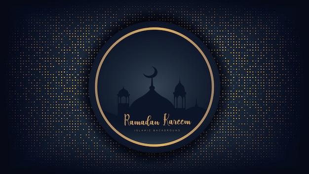 Ramadan kareem luxe achtergrond. Premium Vector