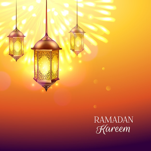 Ramadan lantern illustration Gratis Vector