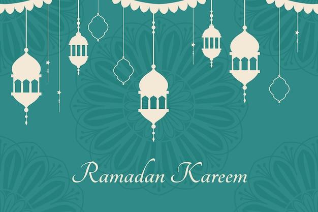 Ramadan mubarak achtergrondontwerp Gratis Vector