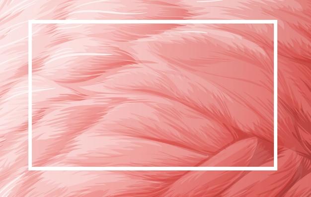 Randsjabloon met roze veer Gratis Vector