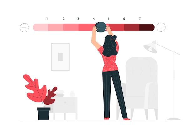Rangen concept illustratie Gratis Vector