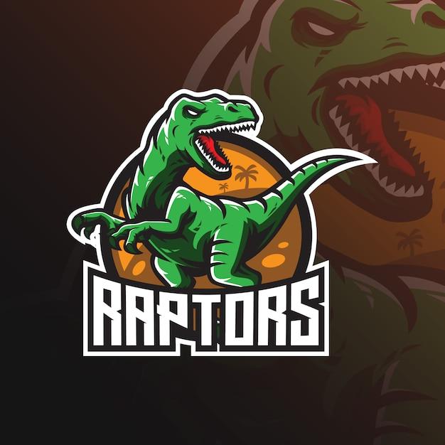 Raptor vector mascotte logo Premium Vector