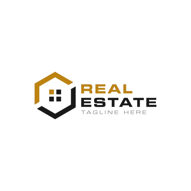 Real estate logo-sjabloon Premium Vector
