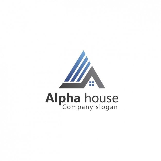 Real estate template logo Gratis Vector