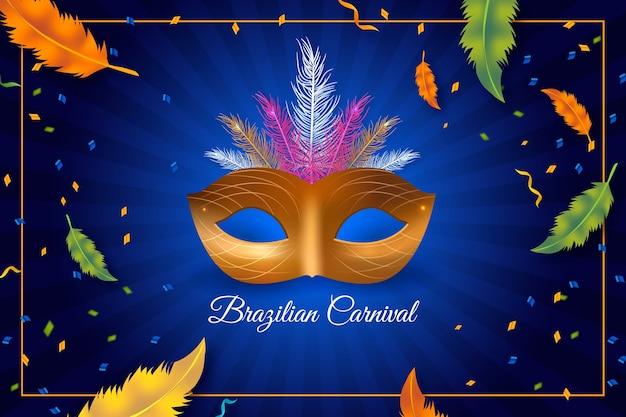 Realisitc braziliaans carnaval-thema Gratis Vector