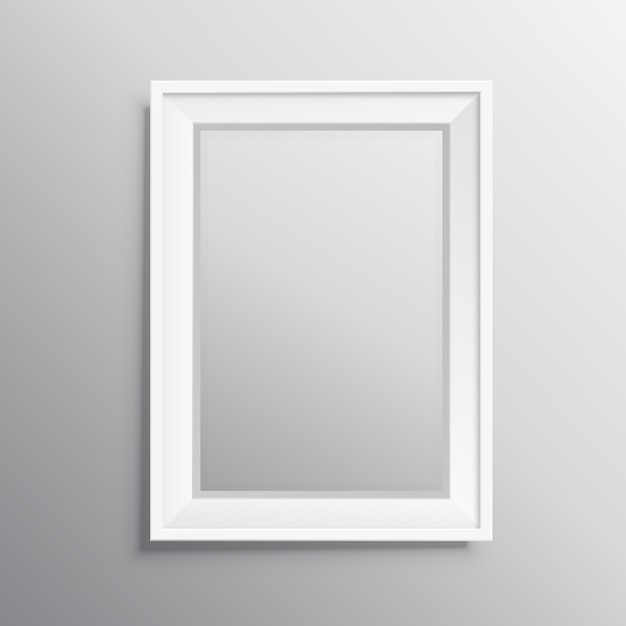 Realisitc fotolijst mockup display Gratis Vector