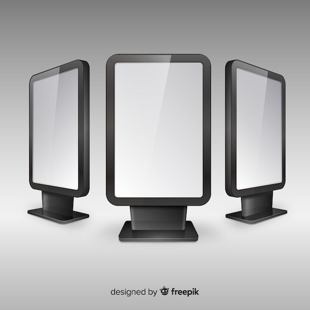 Realisticlight box reclamebord Gratis Vector