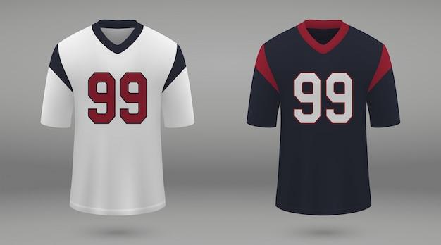 Realistisch amerikaans voetbalshirt Premium Vector