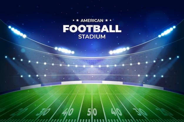 Realistisch amerikaans voetbalstadion Gratis Vector