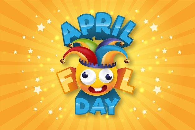Realistisch april dwazen dag concept Gratis Vector