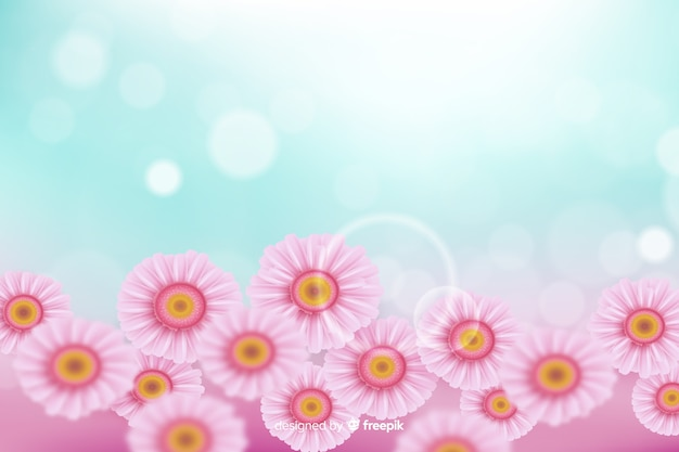 Realistisch bloemenconcept voor achtergrond Gratis Vector