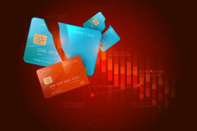 Realistisch faillissementsconcept Gratis Vector