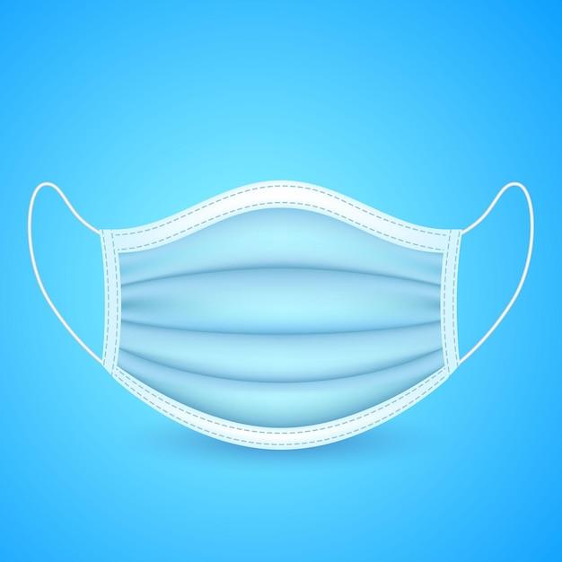 Realistisch gezichtsmasker geïllustreerd Gratis Vector