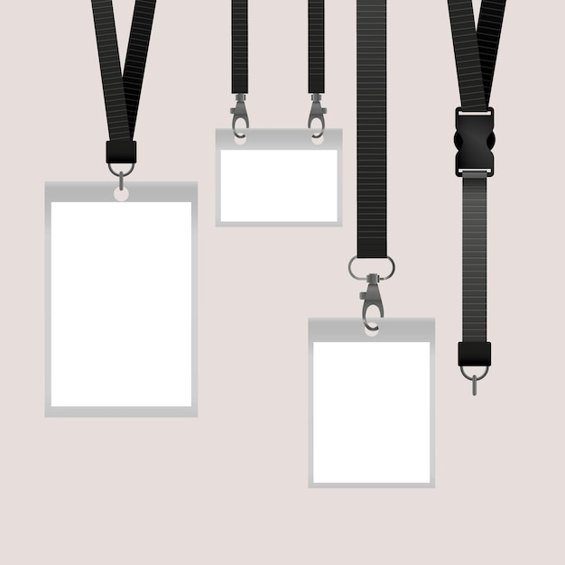 Realistisch id-kaart briefpapier concept Gratis Vector