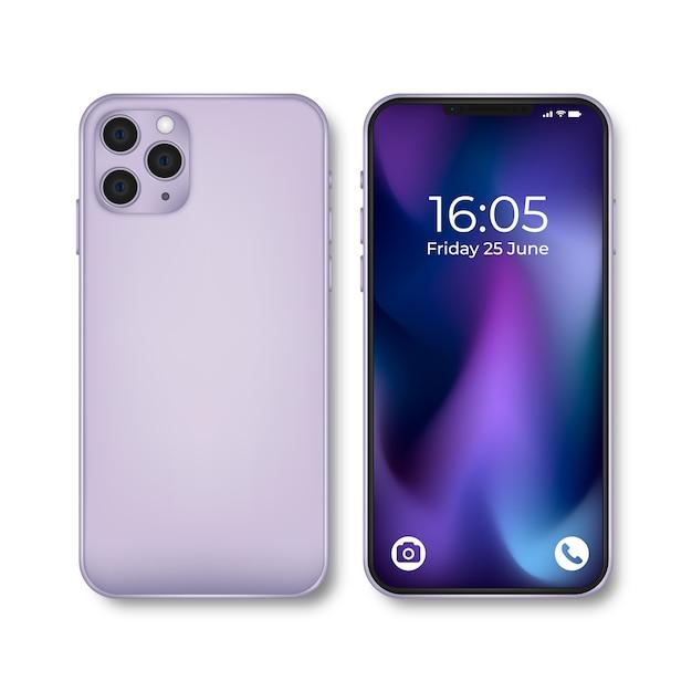 Realistisch iphone 11-apparaat Gratis Vector