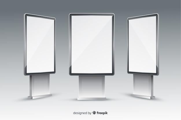 Realistisch lichtbakaanplakbord Gratis Vector