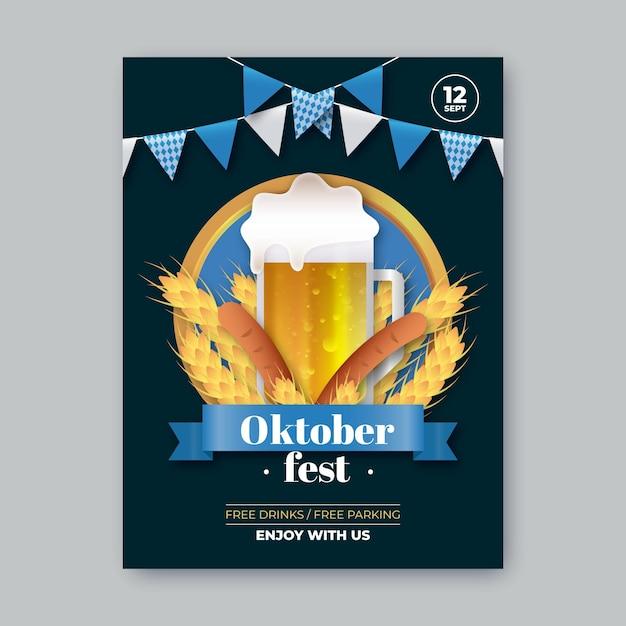 Realistisch oktoberfeestfestival Gratis Vector