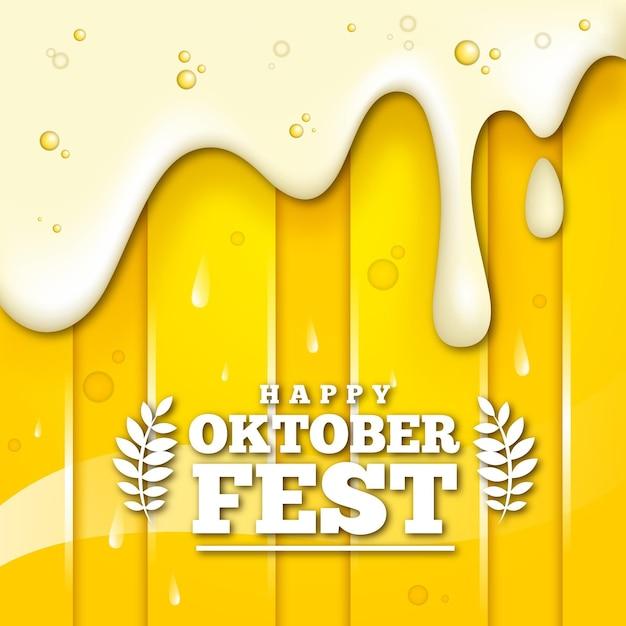 Realistisch oktoberfestconcept Gratis Vector