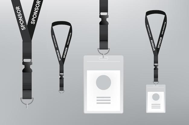 Realistisch ontwerp identiteitskaart briefpapier Premium Vector