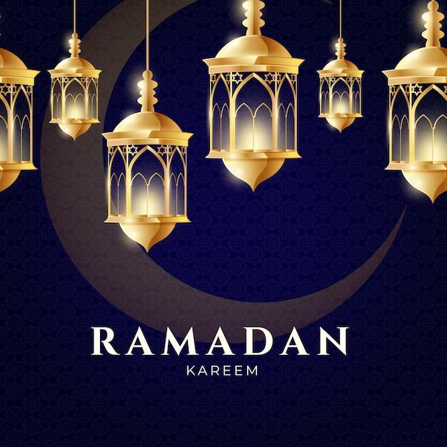 Realistisch ramadanconcept Gratis Vector