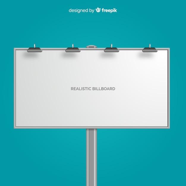 Realistisch reclamebord Gratis Vector