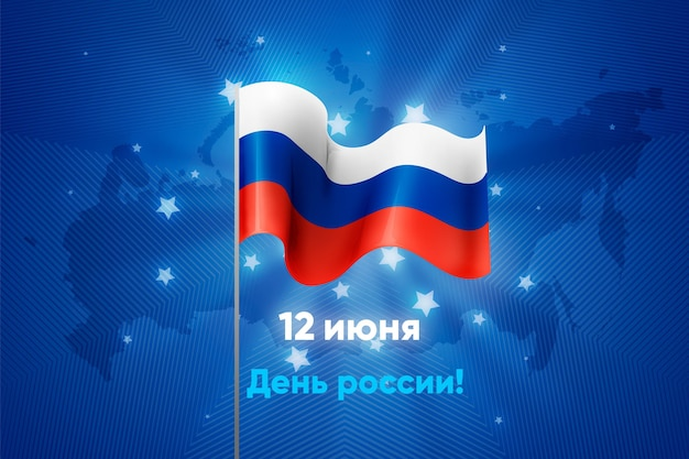 Realistisch rusland dagconcept Gratis Vector
