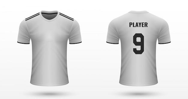 Realistisch voetbalshirt Premium Vector