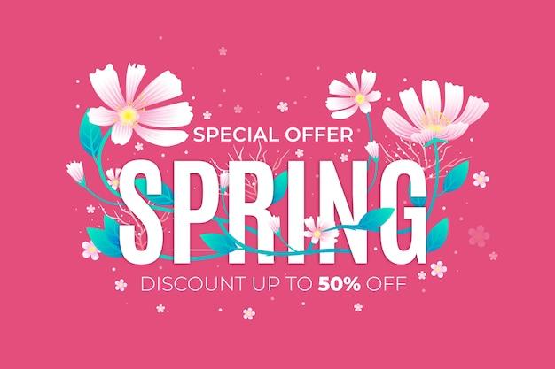 Realistisch voorjaar promotionele verkoop concept Gratis Vector