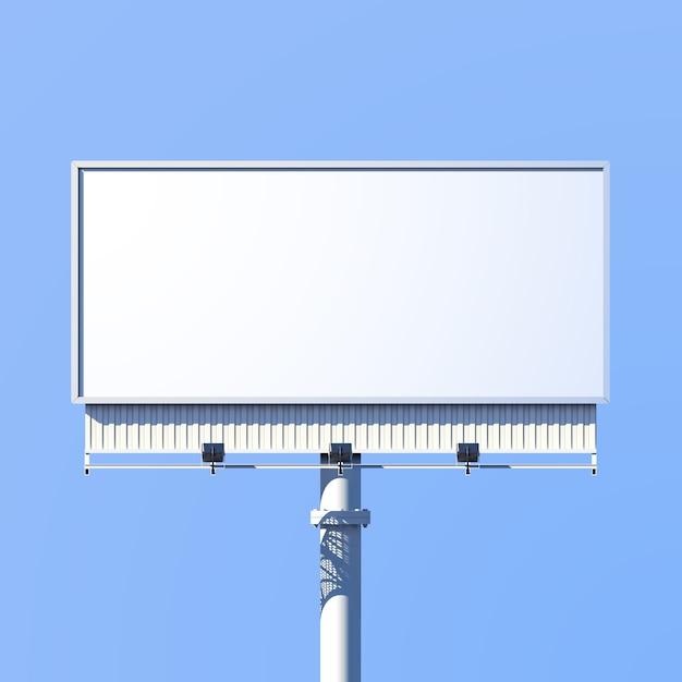 Realistische 3d buiten reclame billboard teken Gratis Vector
