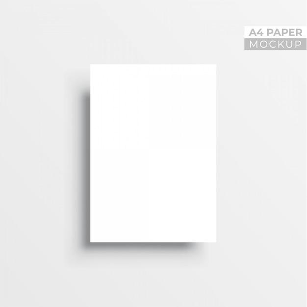 Realistische 3d papieren flyer mockup Premium Vector