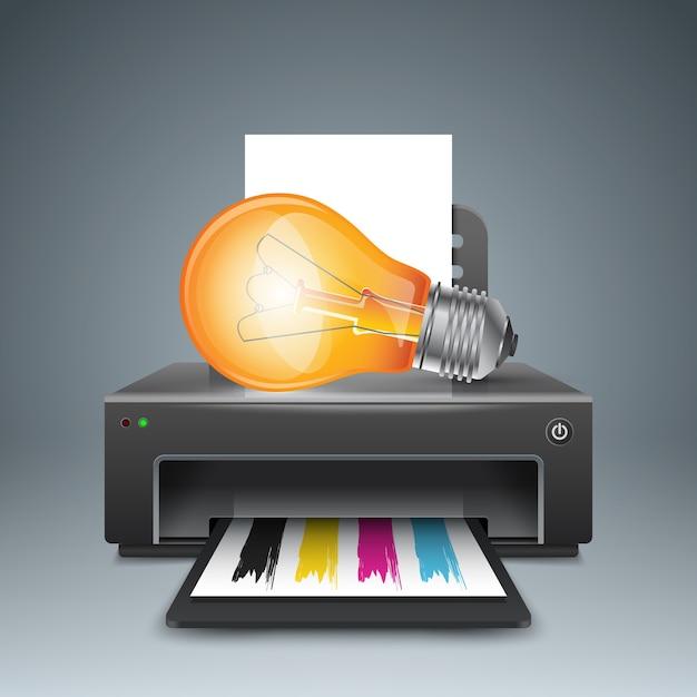 Realistische 3d-printer Premium Vector
