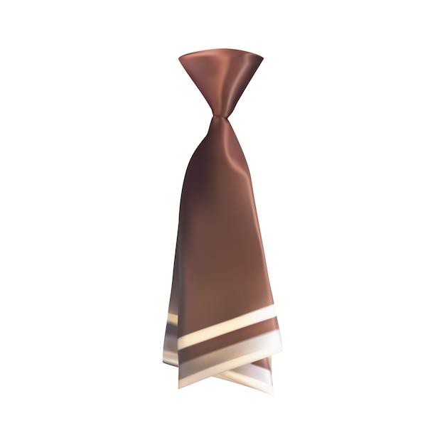 Realistische 3d-stropdas op wit Premium Vector