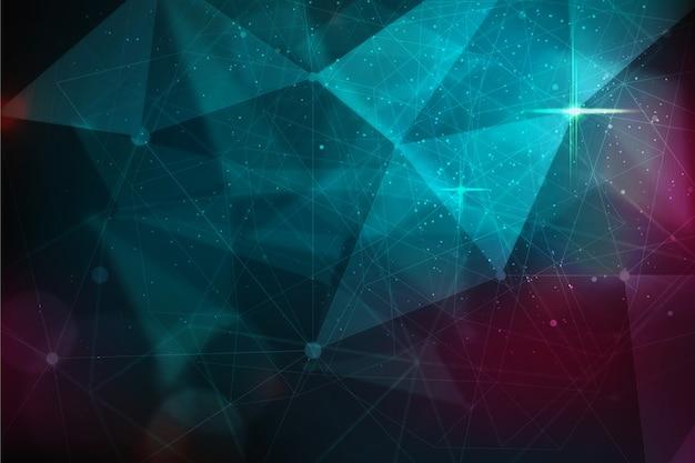 Realistische abstracte technologie deeltje achtergrond Gratis Vector