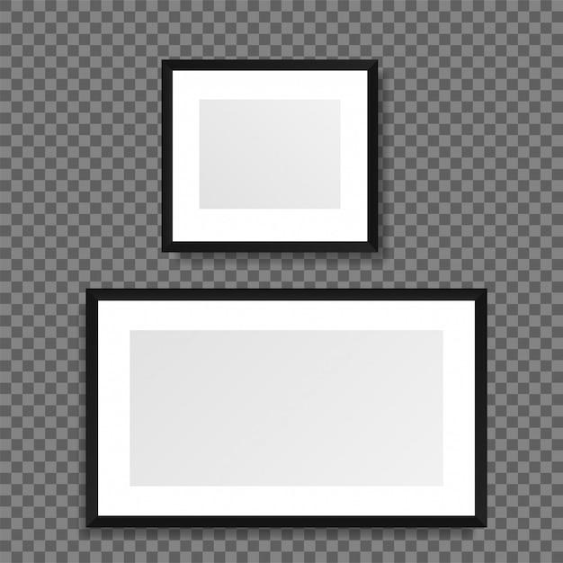 Realistische afbeeldingsframe geïsoleerd op transparante achtergrond. Premium Vector