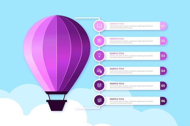 Realistische ballon infographic Gratis Vector