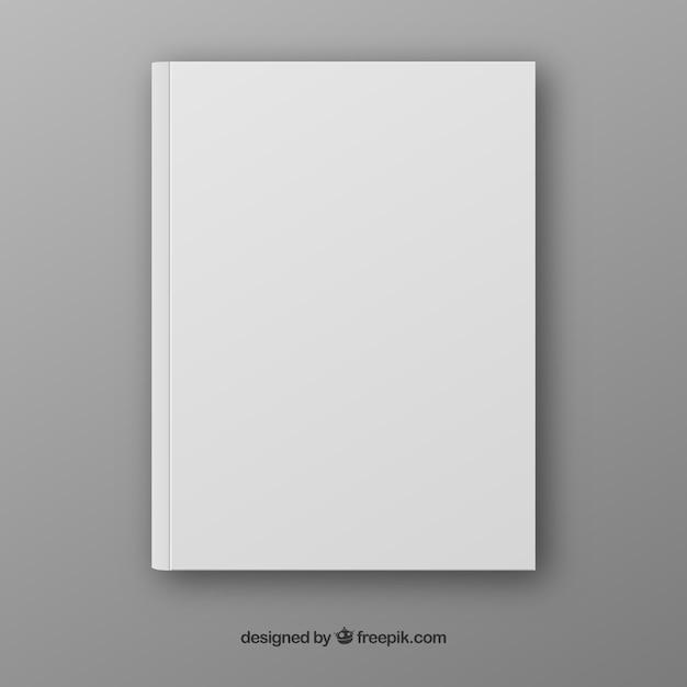 Realistische boek template in voorzijde Gratis Vector