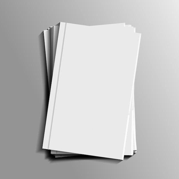 Realistische briefpapiermodel voor decoratie en bekleding. concept van huisstijl branding. Premium Vector