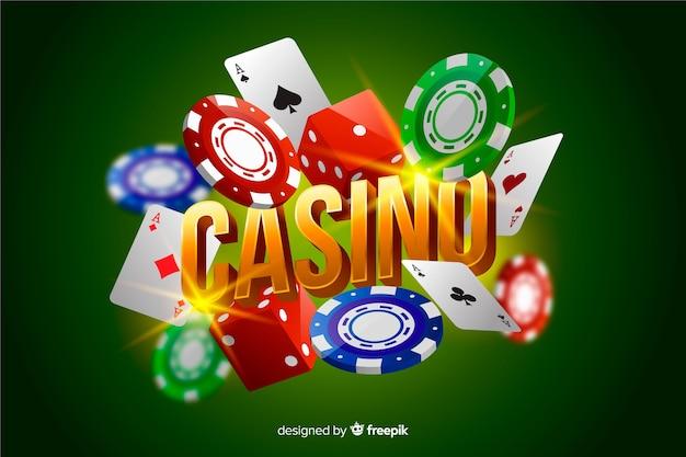 Realistische casino elementen achtergrond Gratis Vector