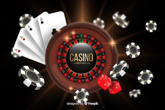 Realistische casinoachtergrond Gratis Vector