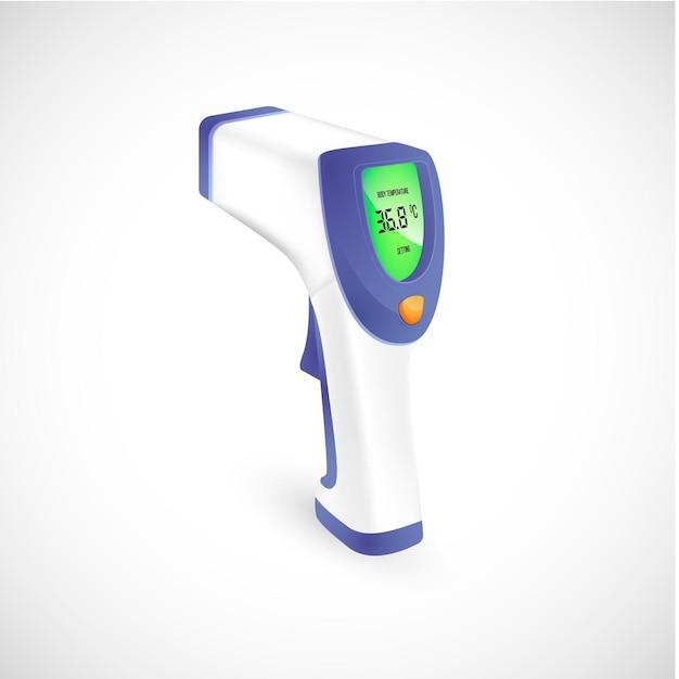 Realistische contactloze infraroodthermometer Gratis Vector